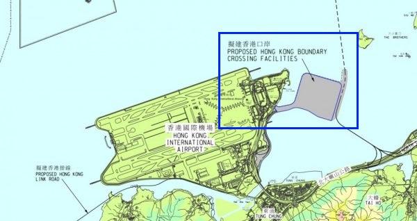 香港マカオ橋地図