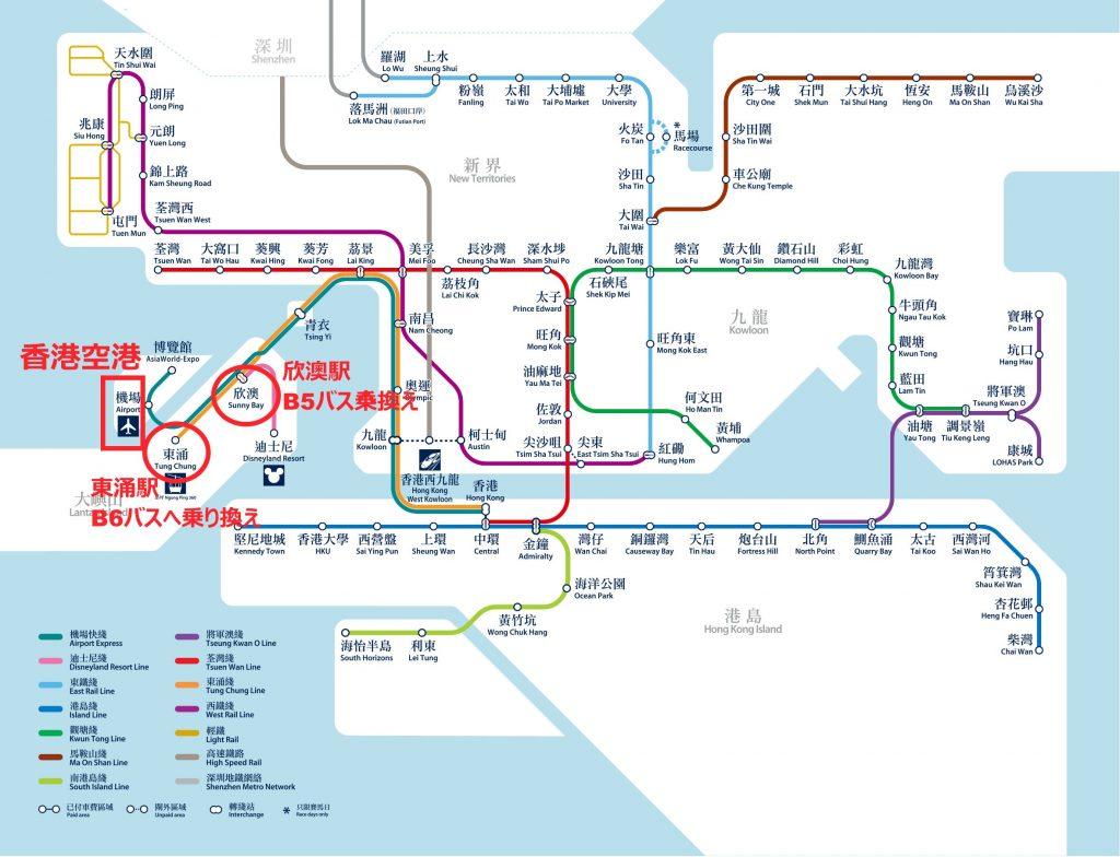 香港MTRマップ